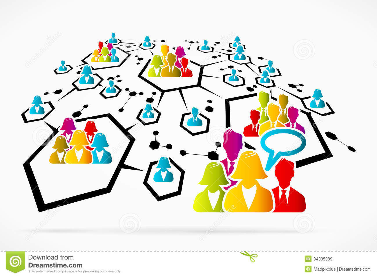 Network Communication Royalty Free Stock Images.