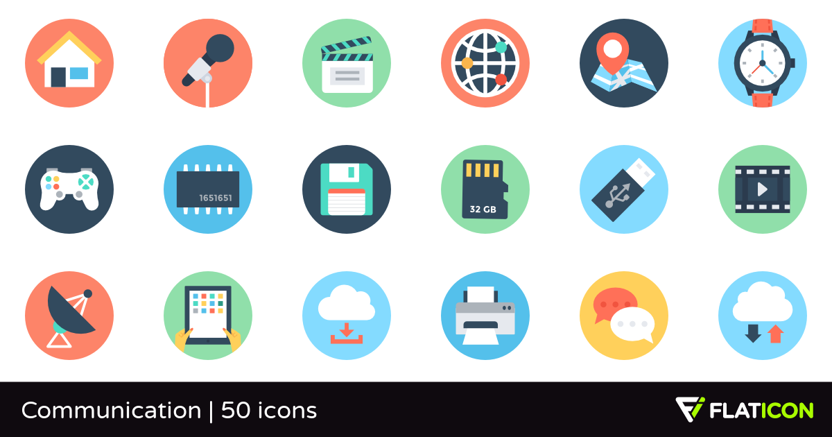Communication 50 free icons (SVG, EPS, PSD, PNG files).