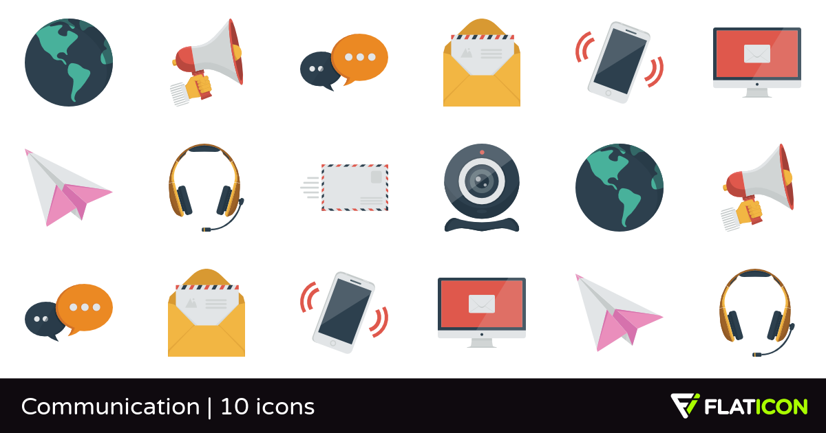 Communication 10 free icons (SVG, EPS, PSD, PNG files).