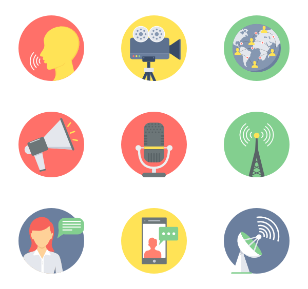 Communication & Connectivity 30 free icons (SVG, EPS, PSD, PNG files).