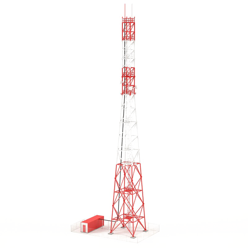 Download Free png Communication Tower Transparent Background.