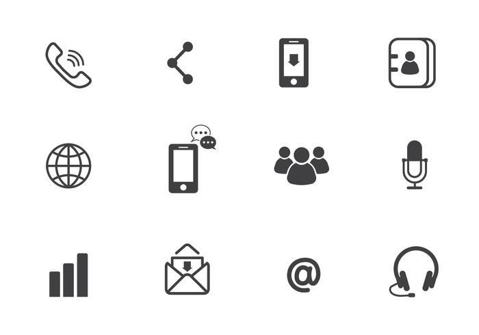 Communication Vector Icons.