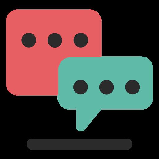 Chat communication icon.