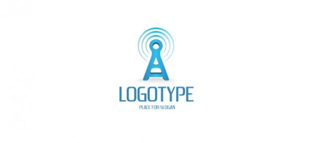 Communication logo template PSD file.