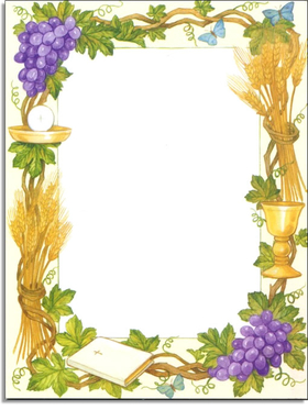 Collection of free Eucharist clipart border. Download on.