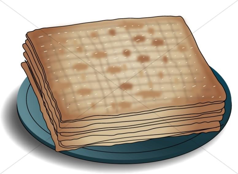 Unleavened Bread on Plate.