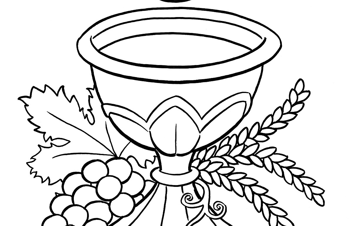 Free First Communion Picture Black And White, Download Free Clip Art.