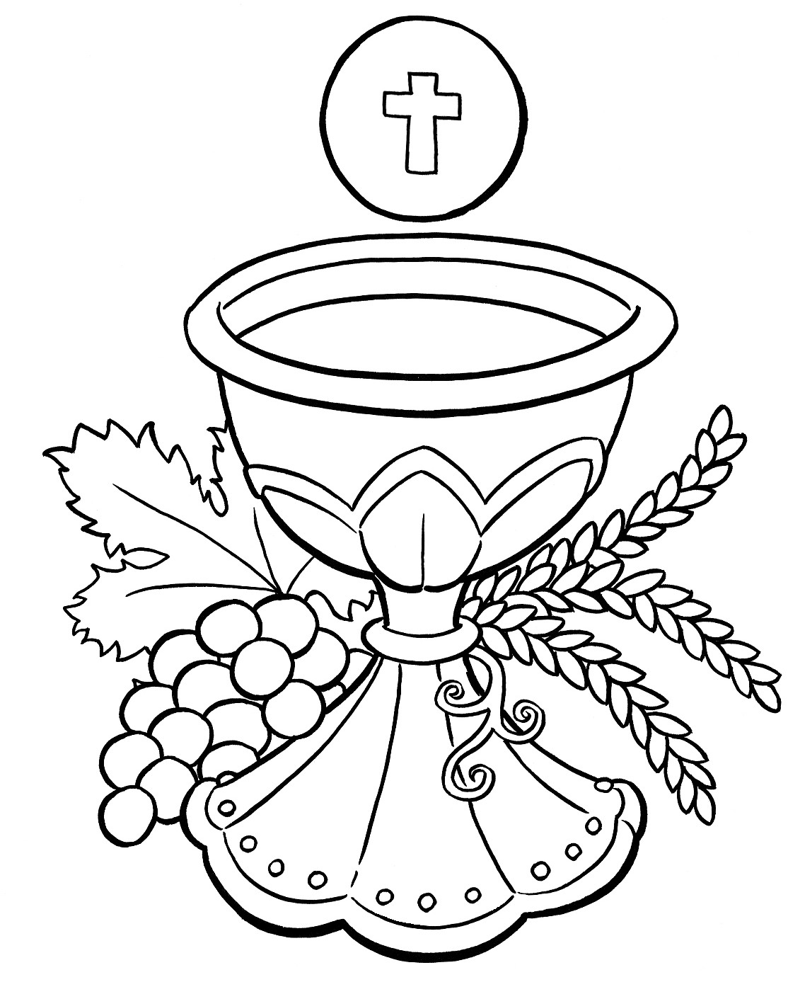 Communion clipart black and white 7 » Clipart Station.