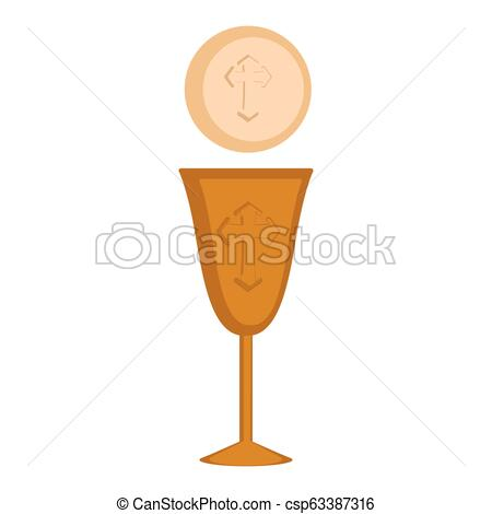 Communion cup and host.
