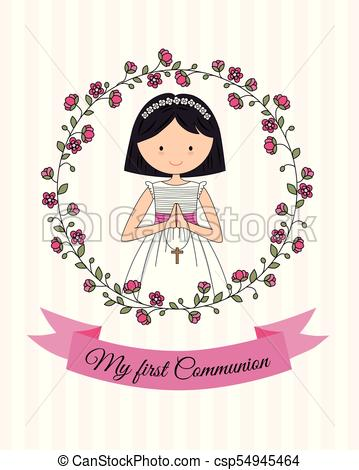 my first communion girl.