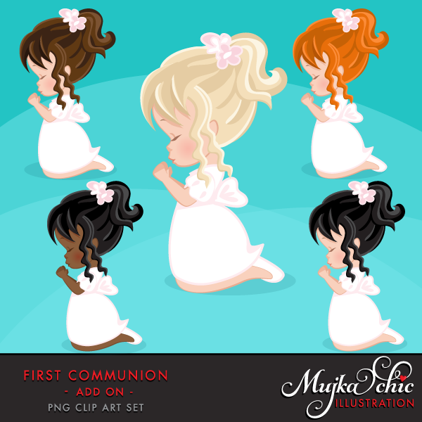 First Communion Clipart for Girls Add On.