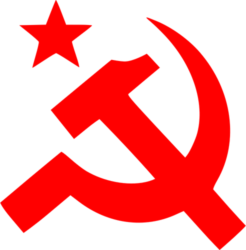 Communism sign of hammer vector illustration.