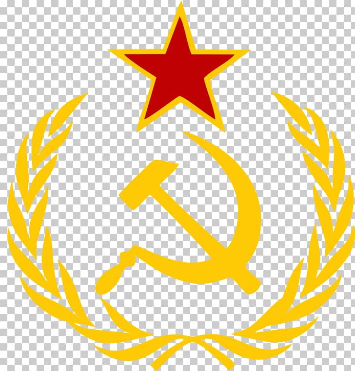 Hammer and sickle Communism, Soviet Union logo , Soviet Union PNG.