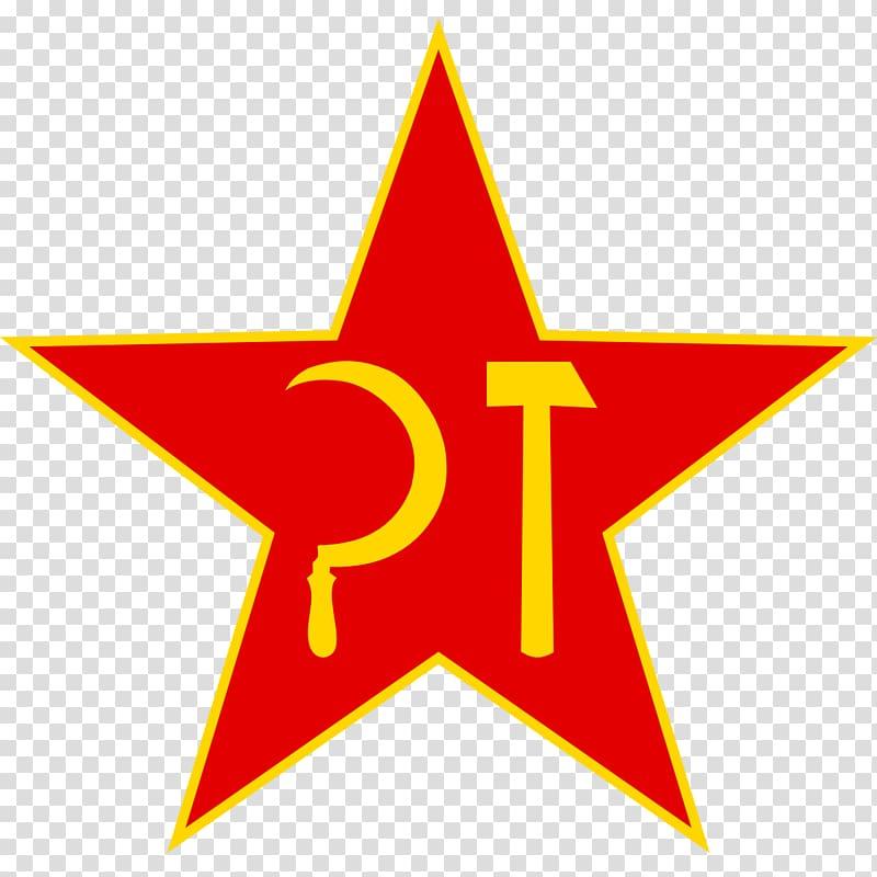 Hammer and sickle Red star Communism Communist symbolism.