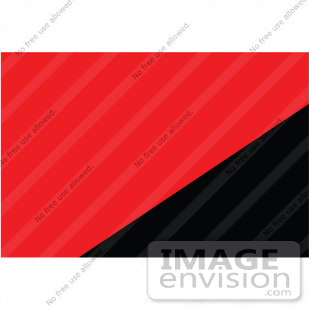 Clip Art Graphic of the Red And Black Libertarian Communism Flag.