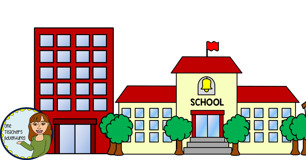 One Teacher\'s Adventures: Community Buildings Clip Art Set.