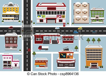 Map Building Clipart & Free Clip Art Images #24253.