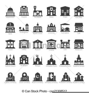 Clipart Community Buildings.