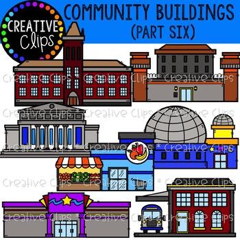 Community Buildings 6 {Creative Clips Clipart}.
