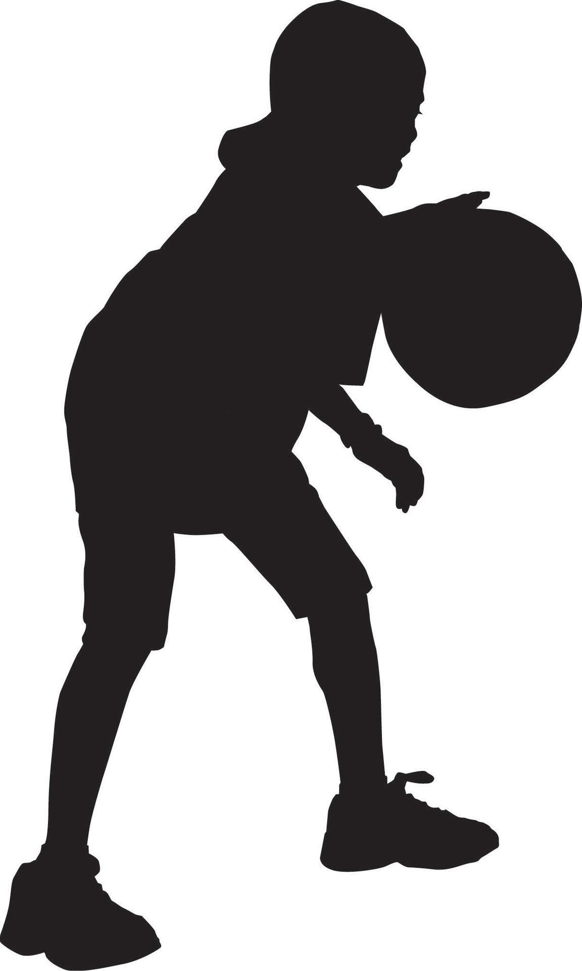 Shaw Jewish Community Center Silhouette Child Playing Basketball.
