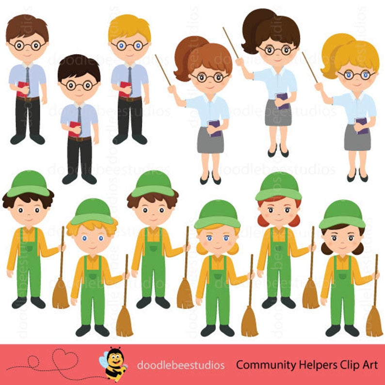 Community Helpers Clipart, Community Clipart,Career Day Clipart,Career Clip  Art, Occupation Clipart, Jobs Clipart, Helpers Clipart.
