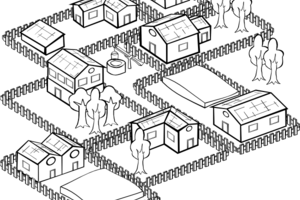 Urban community clipart black and white » Clipart Portal.