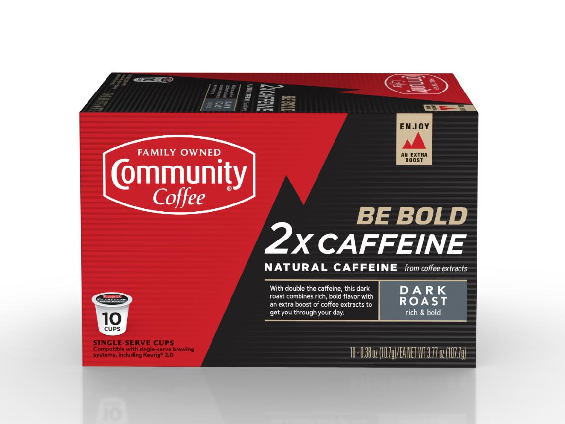 Community Coffee Company Announces 2X Caffeine Single.