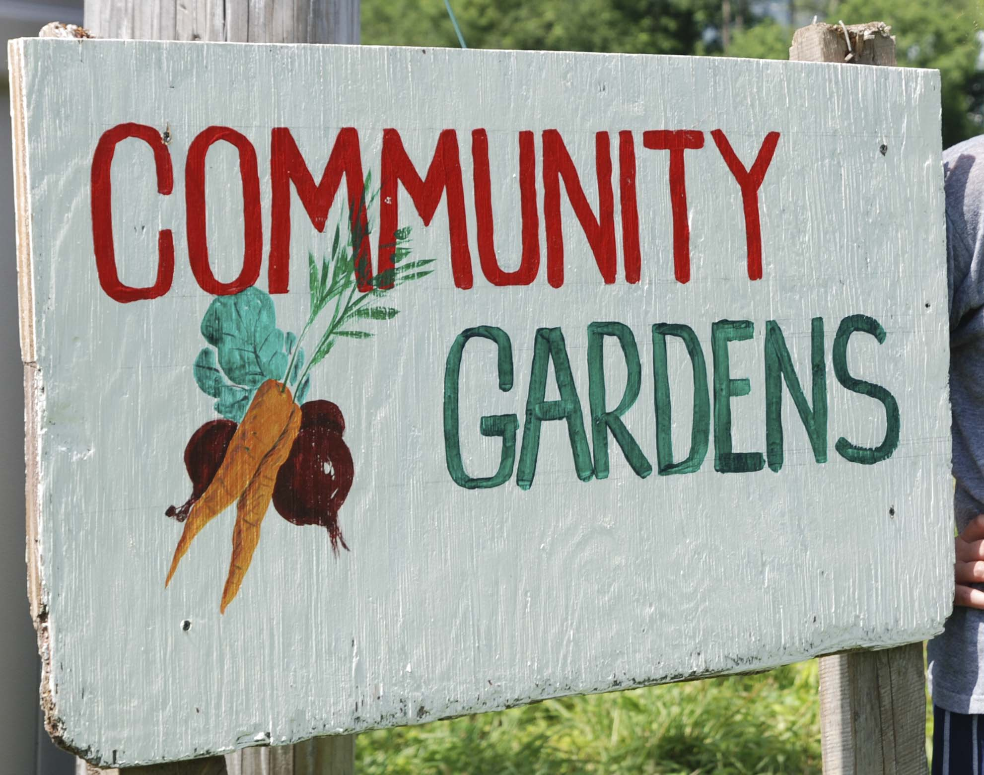 Community Garden Signs.