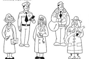 Community helpers clipart black and white 3 » Clipart Station.