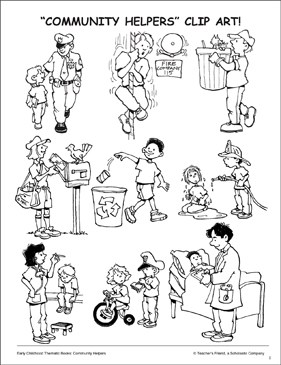 Community helpers black and white clipart 7 » Clipart Portal.