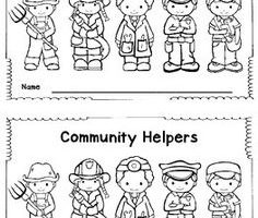 Community helpers clipart black and white 1 » Clipart Station.