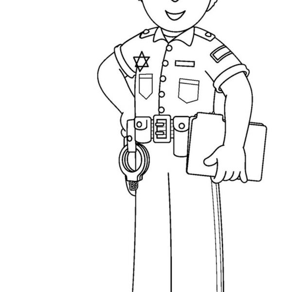 Printable Community Helper Coloring Pages For Kids.