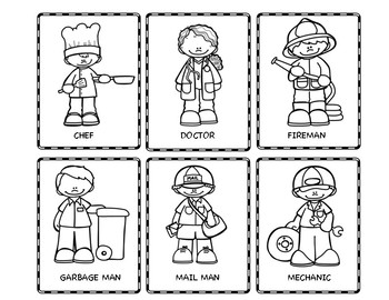 Community Helpers Clipart Black And White (93+ images in Collection.