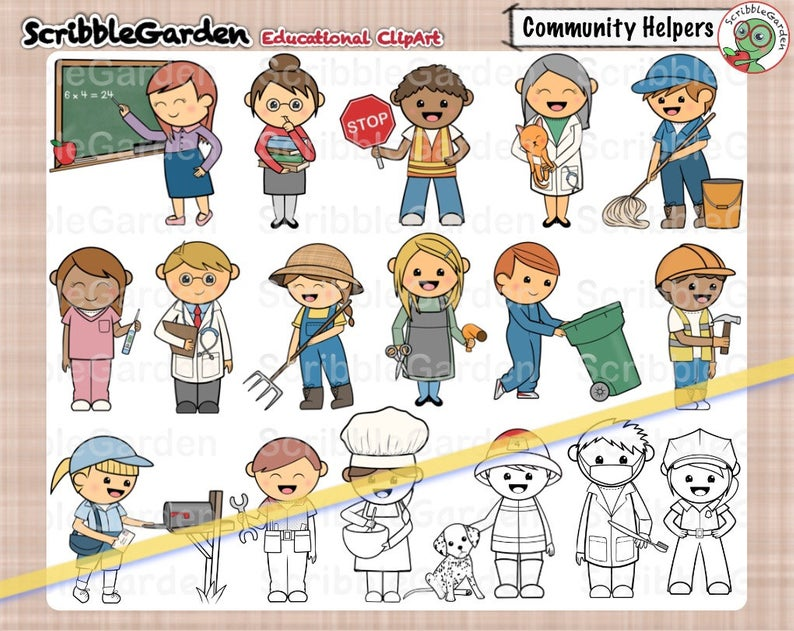 Community Helpers ClipArt.