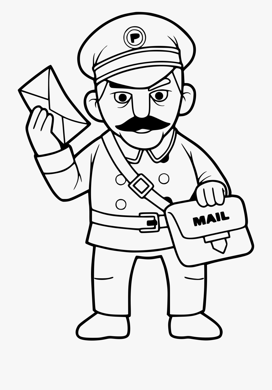 Community Helpers Clipart Black And White , Png Download.