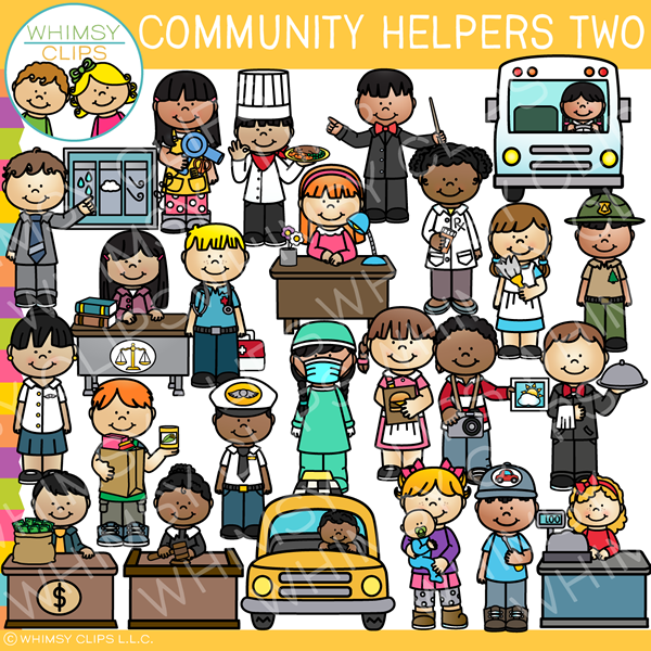 Awesome Community Helpers Clip Art.