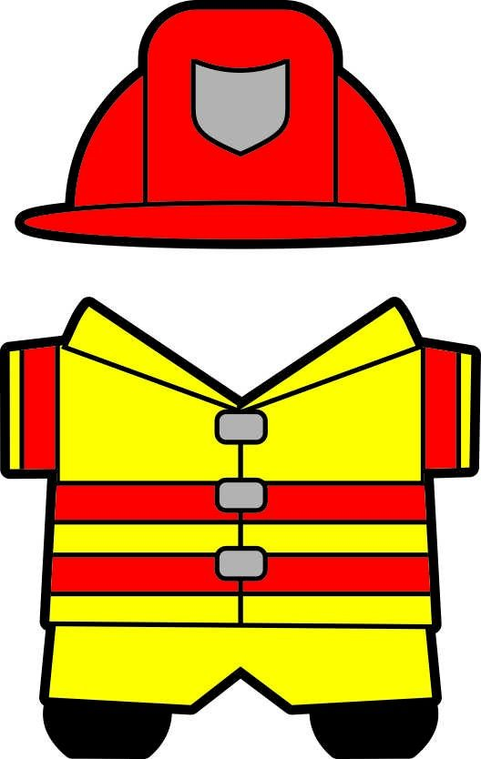 Fireman Hat Template.