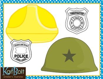 Community Helper Hats and Badges Craft.