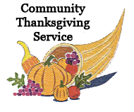 Community Thanksgiving Service Clipart.