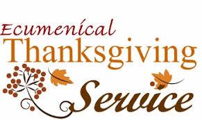 Community Thanksgiving Worship.