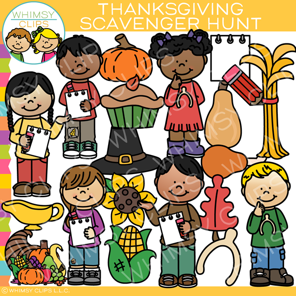 Thanksgiving kids clip art , Images & Illustrations.