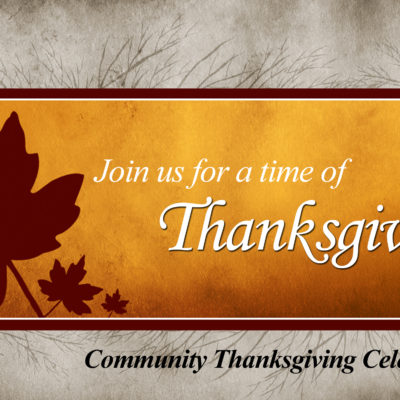 Community Thanksgiving Service.