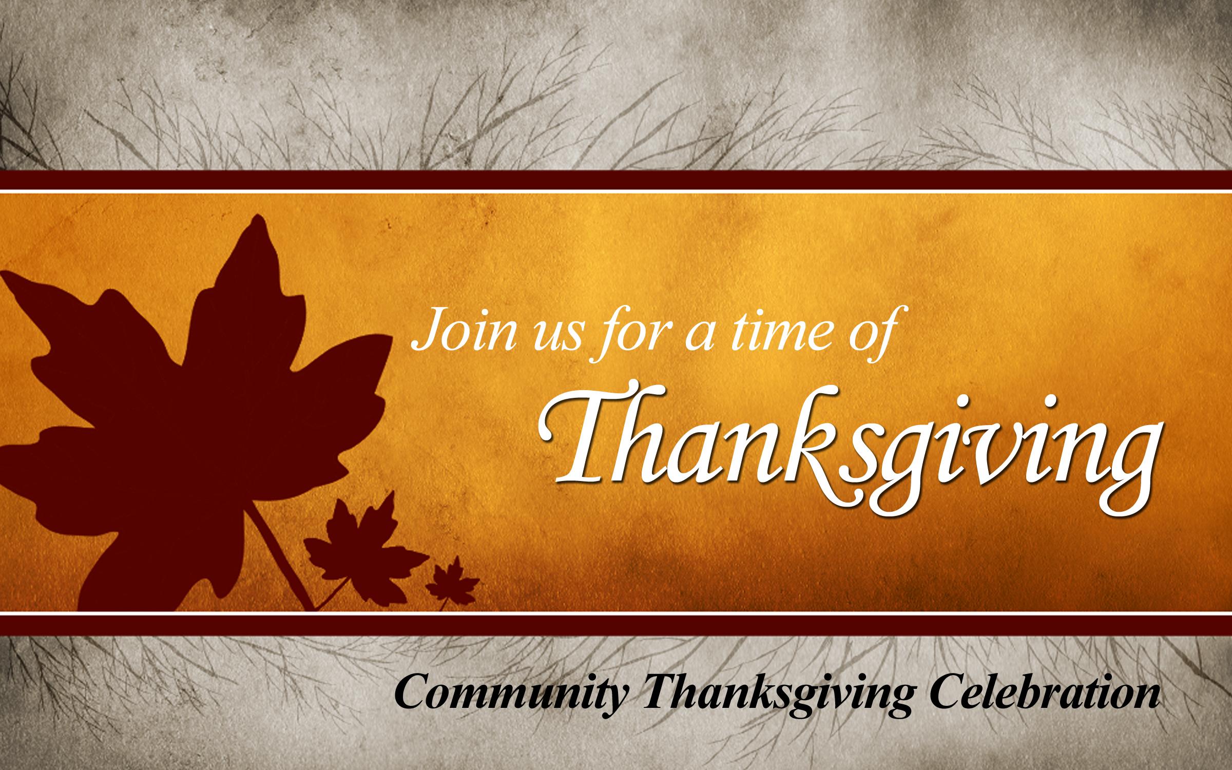 Community Thanksgiving Dinner Clipart.