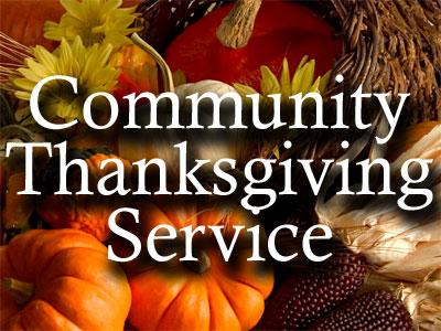 Community Thanksgiving Service — White Oak Baptist Church.