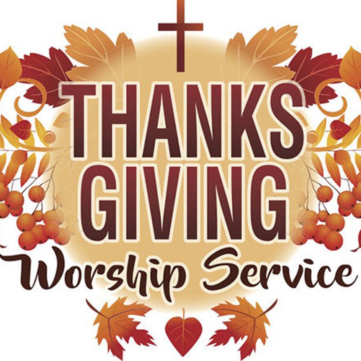 Community Thanksgiving service Sunday night at Melba.