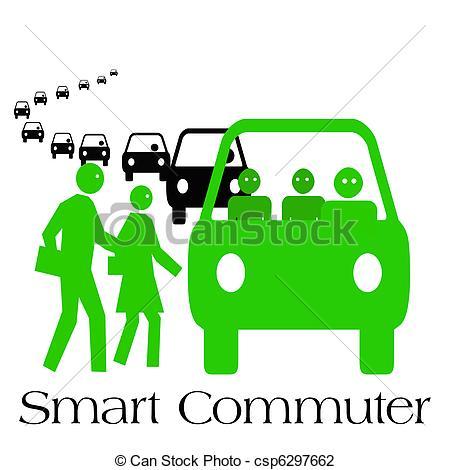 Clip Art of smart commuter.