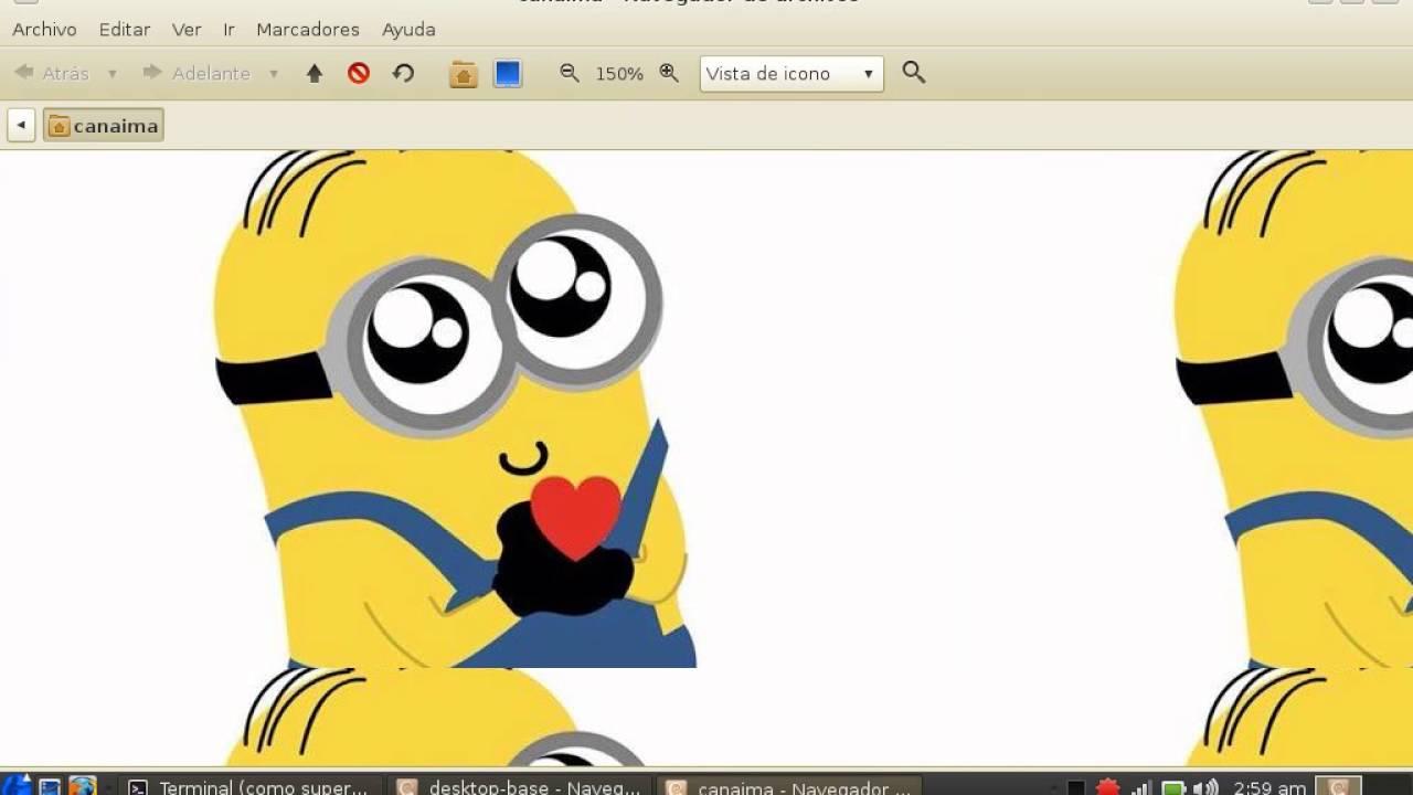 Tutorial como cambiar el fondo de pantalla canaima linux.