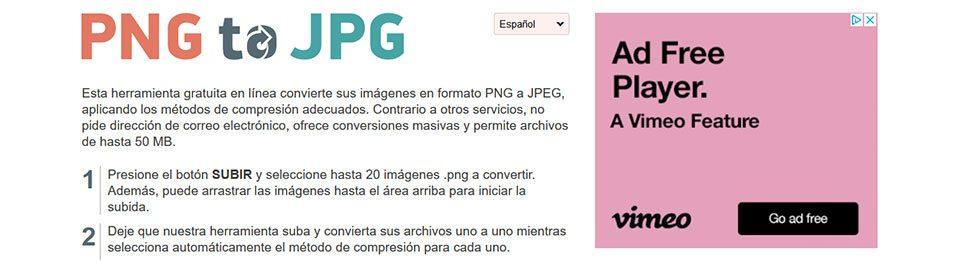 Cómo convertir un archivo PNG a JPG? 12 Herramientas Gratis.