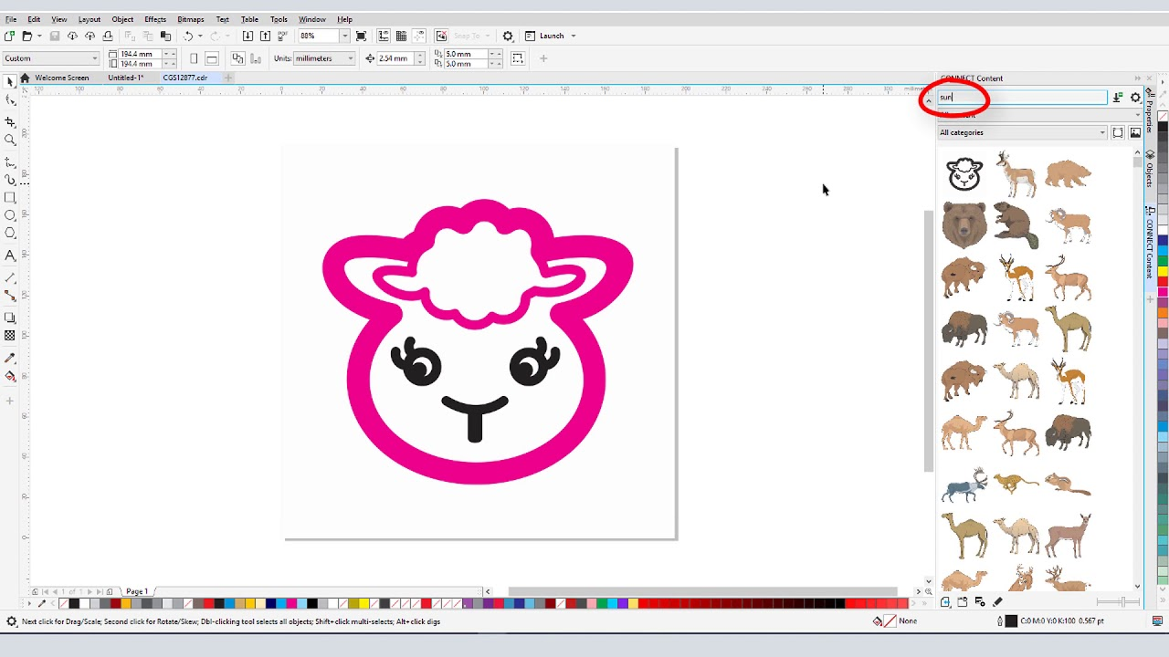 How to Use Clipart in CorelDRAW (Windows).