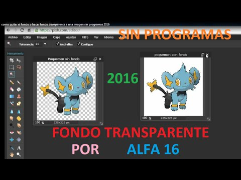 Como hacer un FONDO TRANSPARENTE o PNG a una imagen SIN PROGRAMAS 2019.